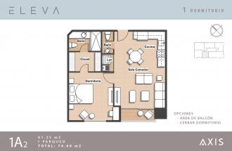 Apartamento 1 Habitacion en Venta, Vista Hermosa II - thumb - 26805