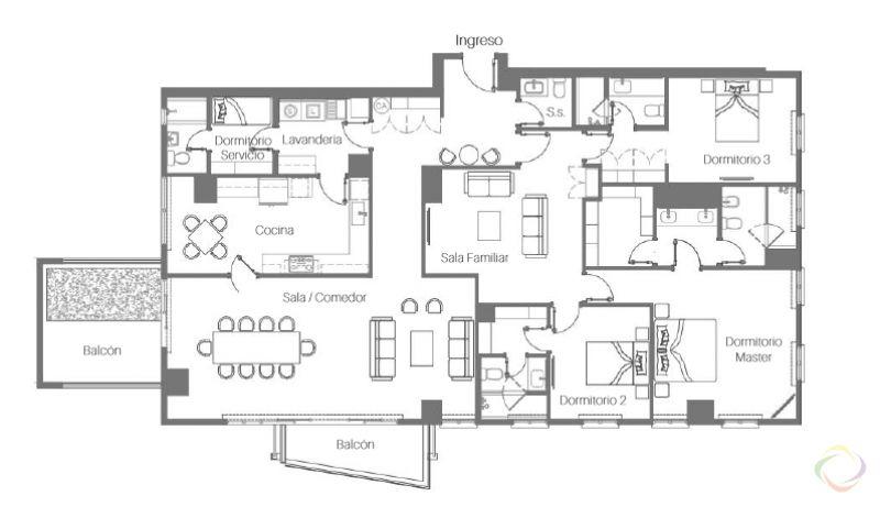 Apartamento con Jardin zona 15 - large - 118621