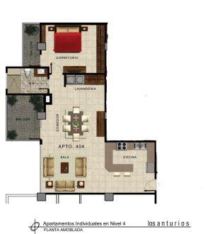 Renta de Apto amueblado, zona 14 - thumb - 133788