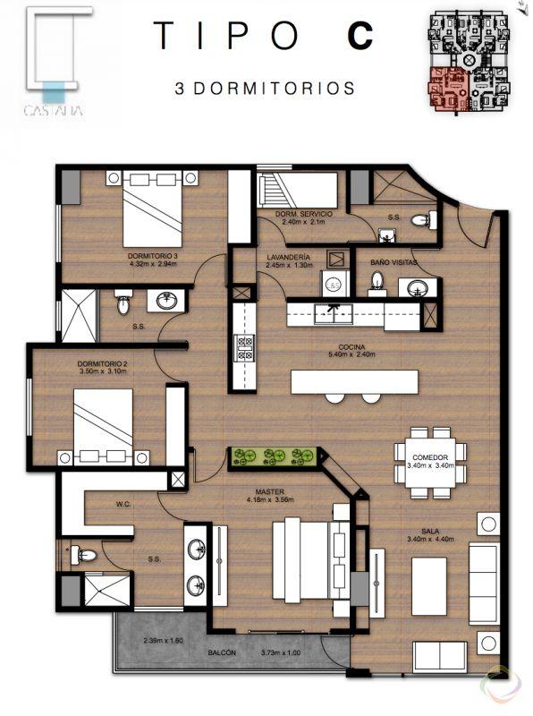 Rento apartamento en castalia z.15 - large - 135332